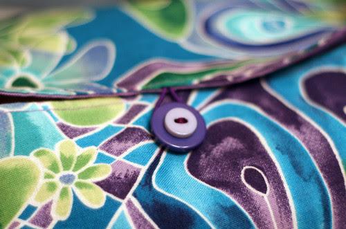 Knitting bag for Rachael, detail