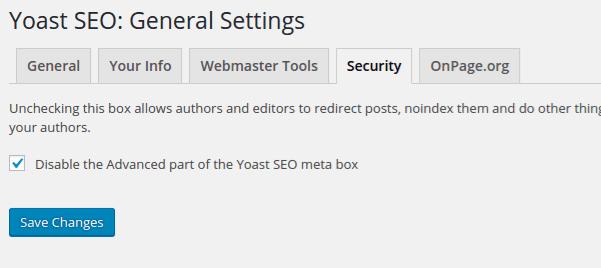 Disable Advanced Yoast SEO Meta Box for authors