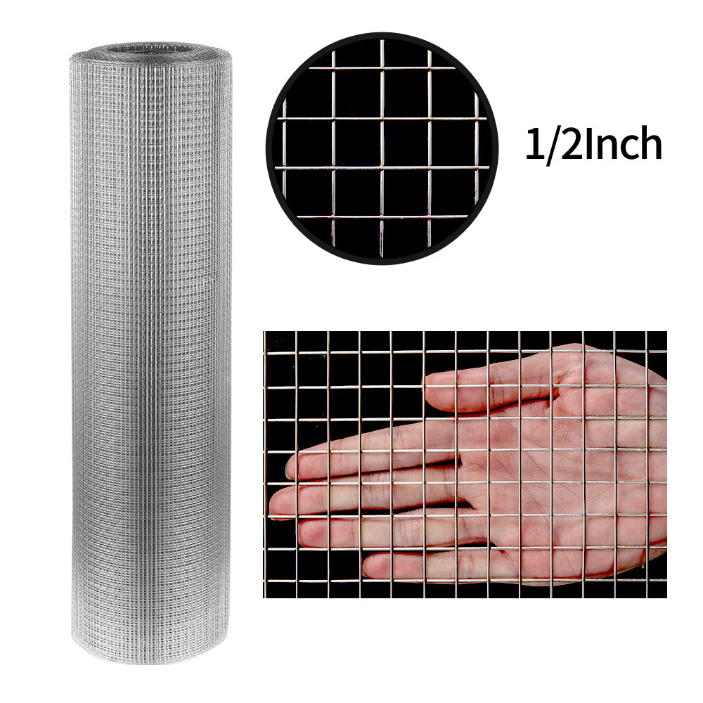 Amagabeli 36inch X 50ft Ss304 Stainless Steel Welded Wire Mesh 1 2 Inc