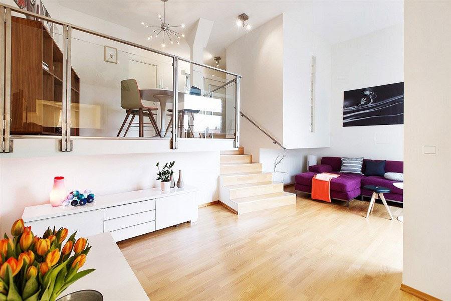 Modern Norwegian Interior Design for Two Level Apartment in Oslo - Scandinavian Interior Design Style Ideas For Interior