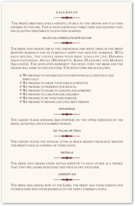 Indian Weddings   Wedding Ceremony Program   Hindu Wedding