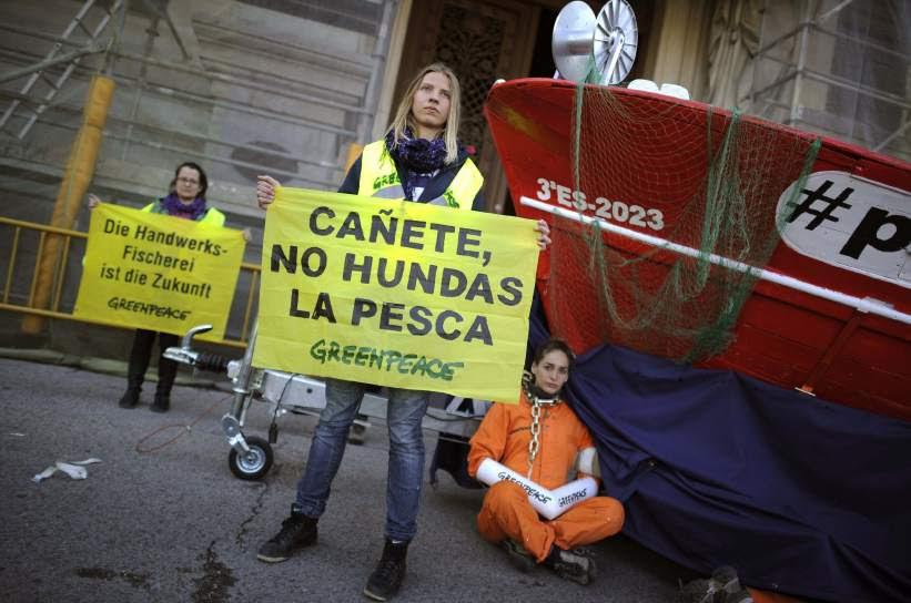 Protesta de Greenpeace en Madrid