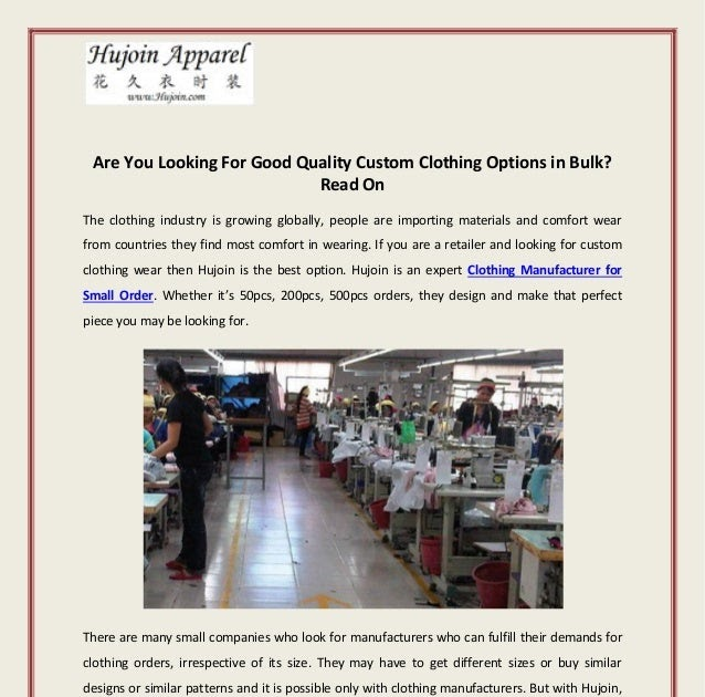 clothing manufacturers for small orders best clothing manufacturers for small businesses