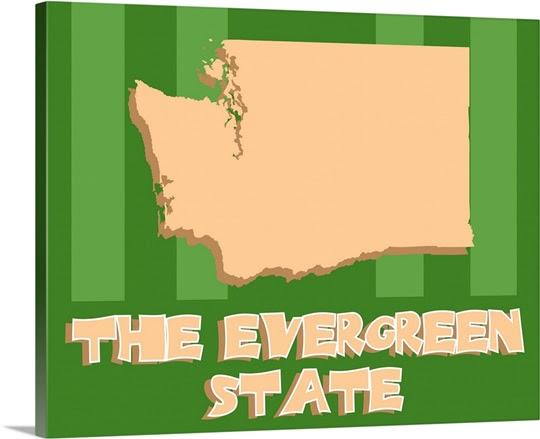 Washington State Nickname Photo Canvas Print Great Big