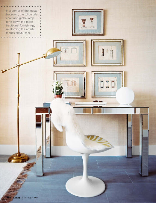 1 - Tulip Style Chair Office in the bedroom from Lonnymag JulyAug11