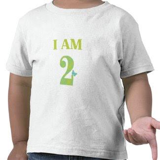 I AM TWO Birthday T-Shirt zazzle_shirt