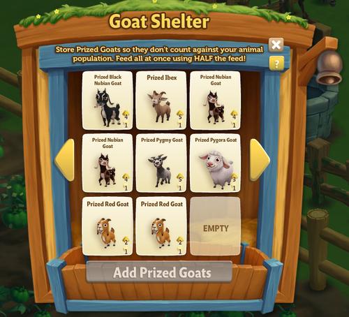 Goat Shelter - Red Goat - FarmVille 2