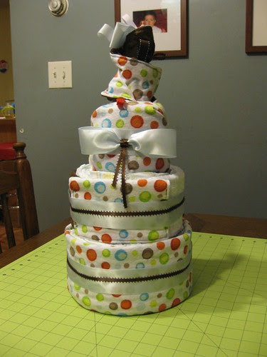 diaper cake 1 for Erin