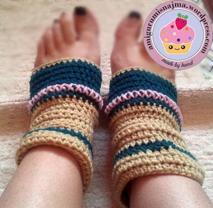 calcetines yoga crochet ganchillo