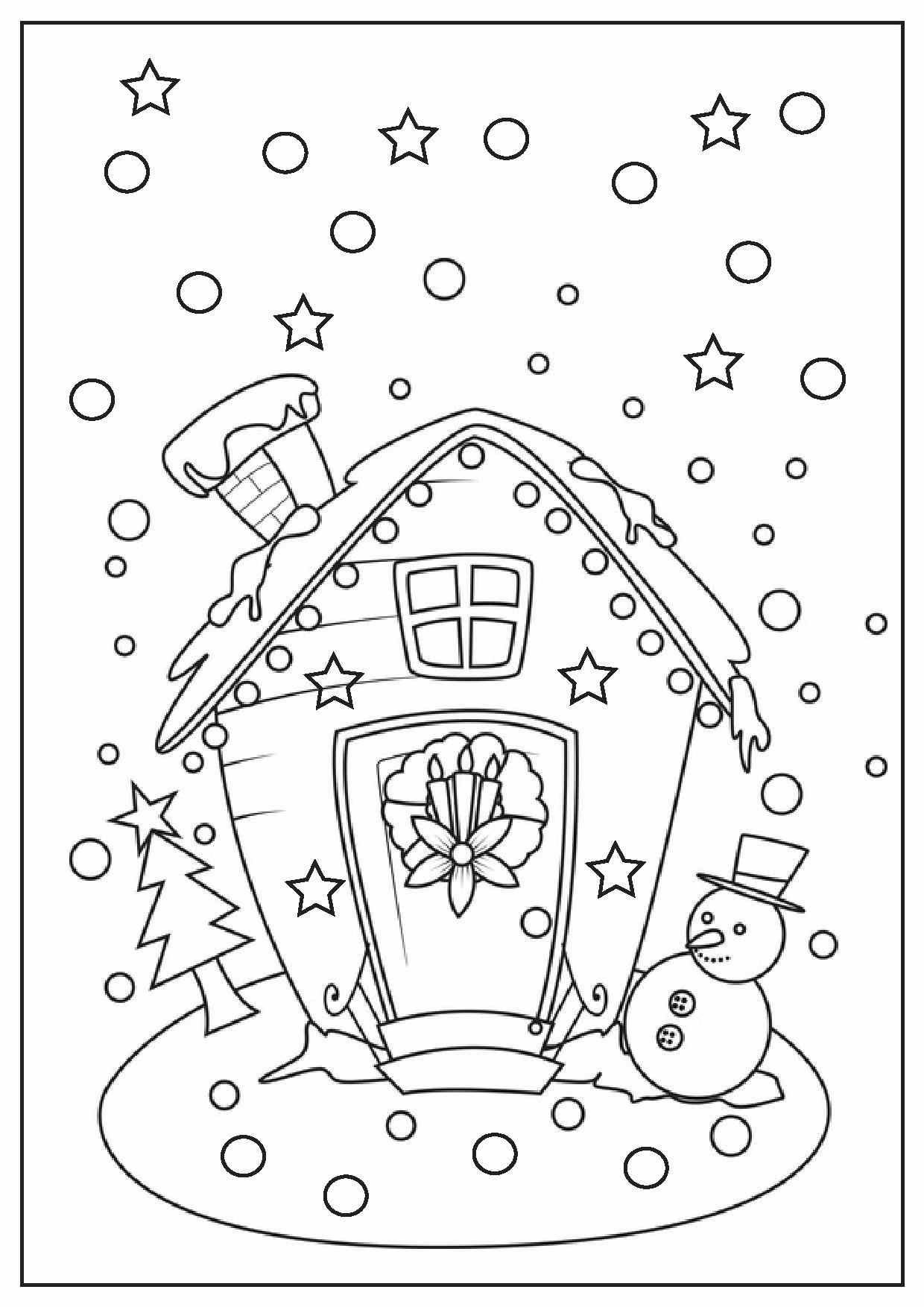 Gingerbread House Christmas Coloring Pages at GetColorings ...