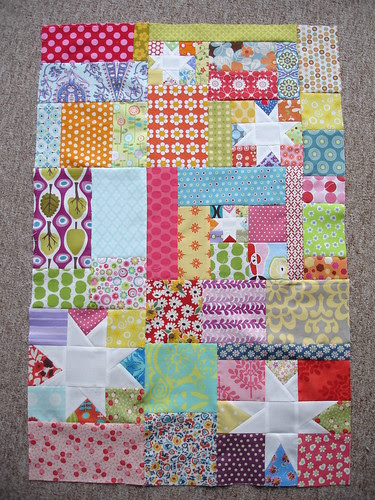 stitch tease block finished