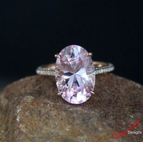 Custom Celebrity Light Pink Sapphire Engagement Ring Oval