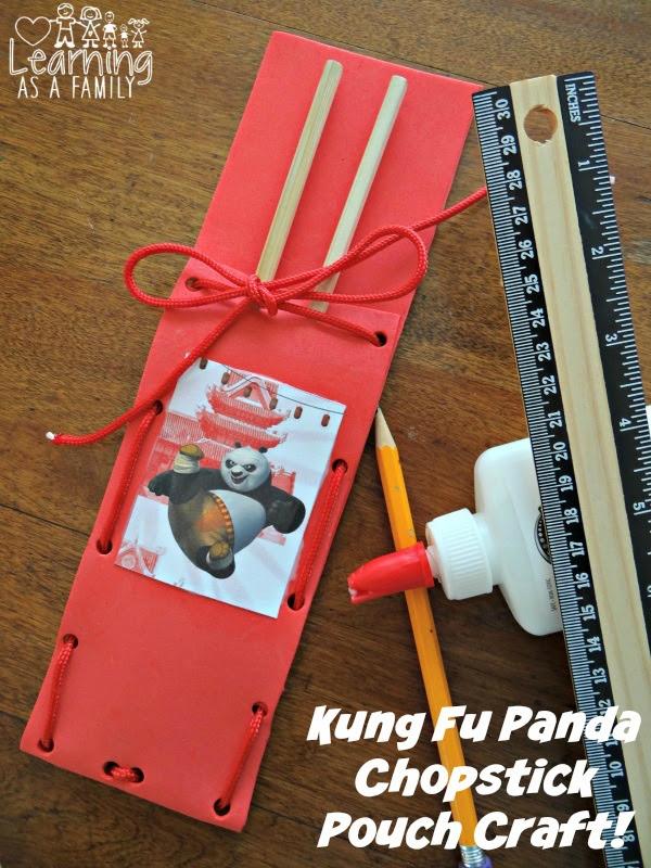 Kung Fu Panda Chopstick Pouch Craft