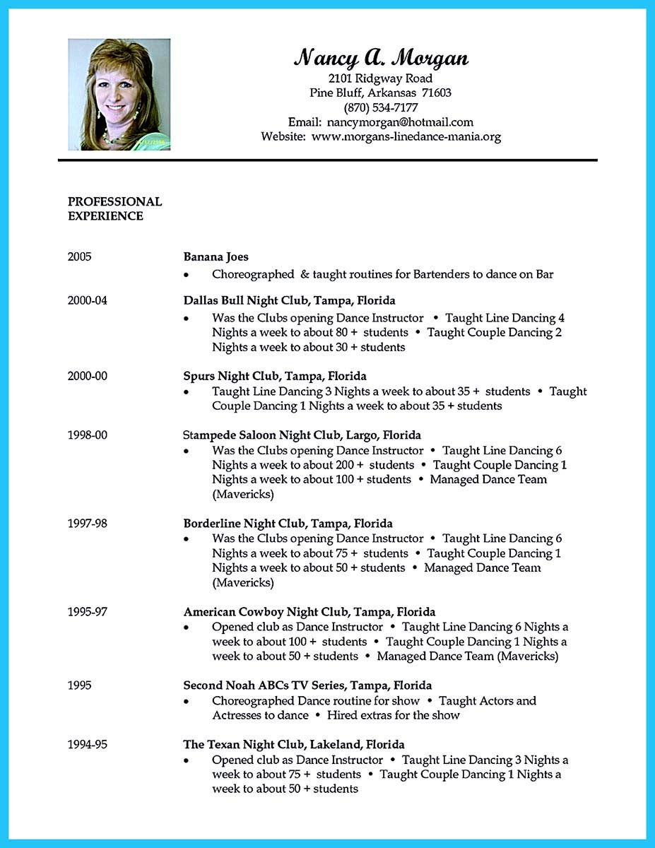 audition resume sample template 22