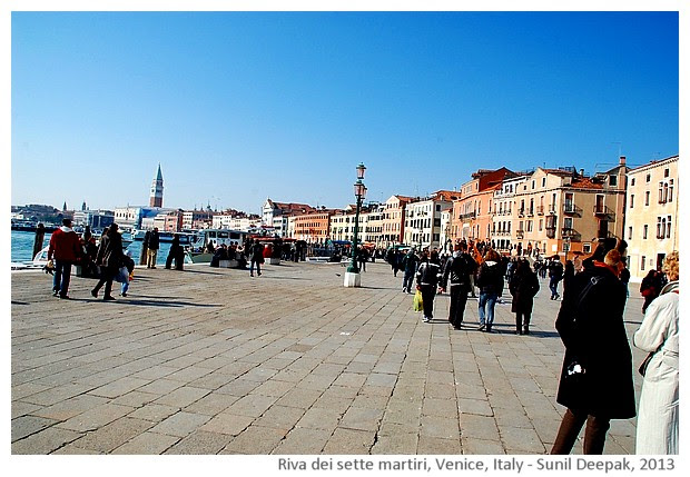 Venice walking tour, for San Pietro, Italy - images by Sunil Deepak