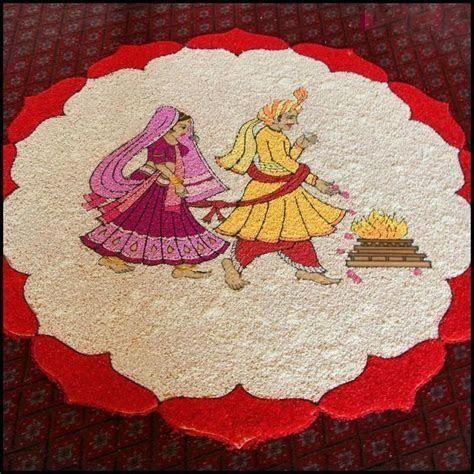 6 wedding pulses rangoli design   Image