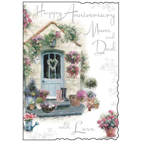 Mum & Dad Happy Anniversary Card   Karenza Paperie