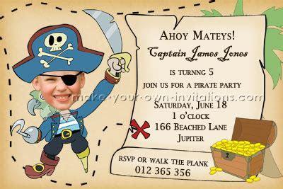 Make Pirate Party Invitations   Homemade Birthday Invites