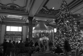 Christmas in the City - Fairmont Hotel tree and house