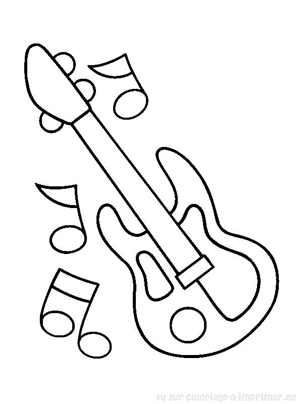 Coloriage à Imprimer Coloriage Instruments De Musique 041