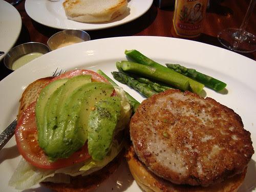 Tuna Burger + Asparagus