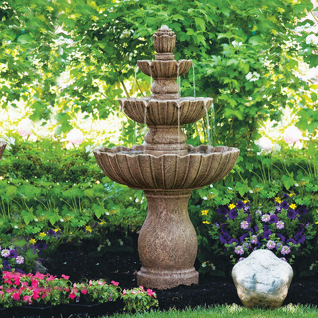 Mirabella Fountain - Traditional - Outdoor Fountains And ...