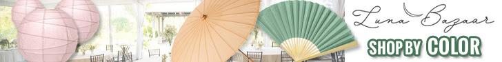 Shop for wedding décor by color at Luna Bazaar