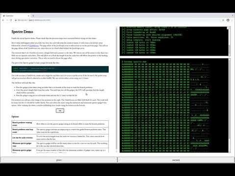 A Spectre proof-of-concept for a Spectre-proof web