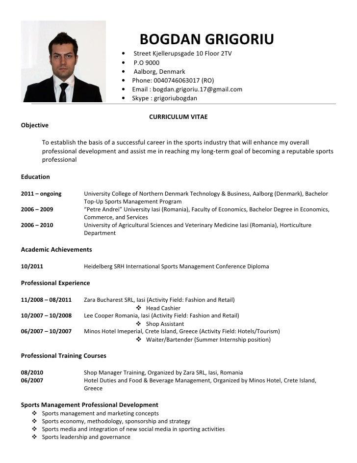 resume vitae tradinghub co - Vita Curriculum