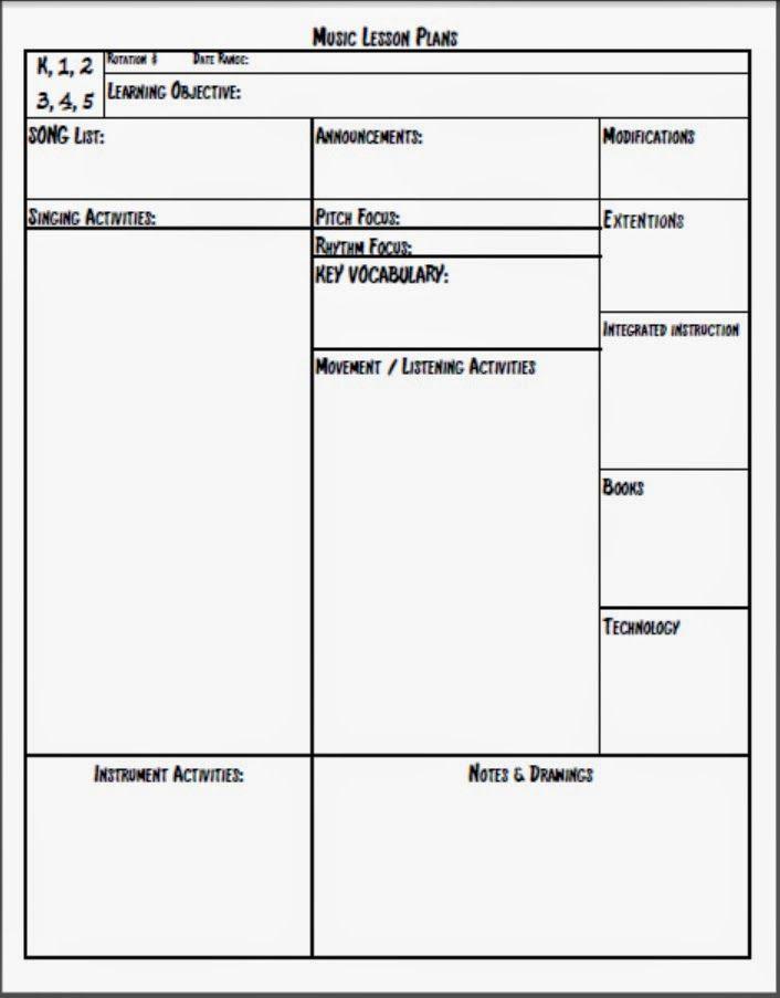 Editable Lesson Plan Template Pdf Calendar June