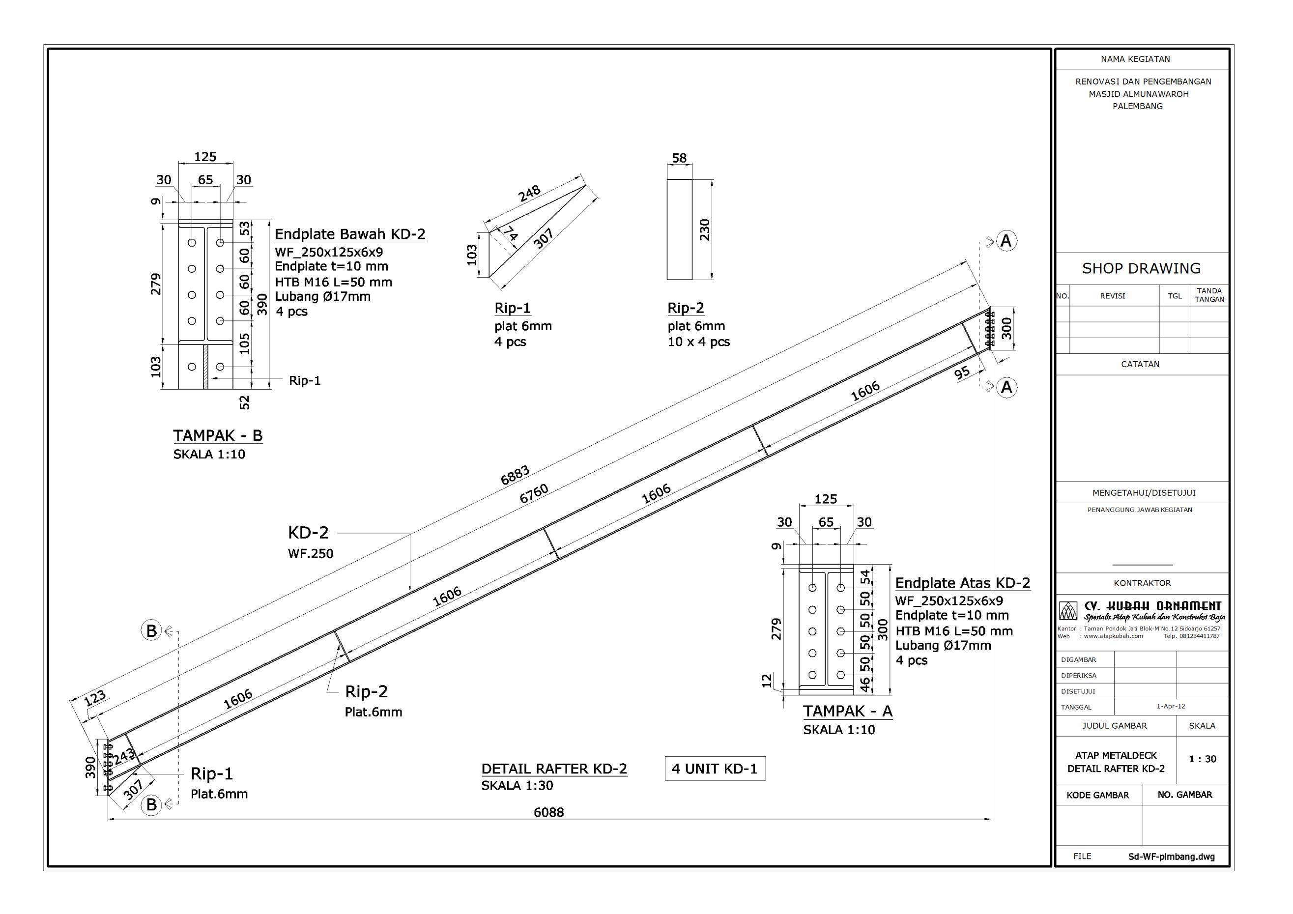 Desain Konstruksi Baja Atap Wf Atap Kubah Rangka Struktur Space Frame