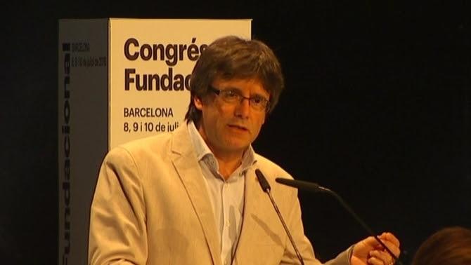 Carles Puigdemont al Congrés Fundacional de PDC