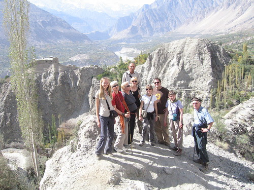 About half way down, a scenic shot of the Mountain Goats with Baltit Fort and Hunza valley in the background