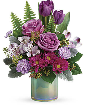Teleflora S Art Glass Garden Bouquet In Cincinnati Oh Janet Flower Shop