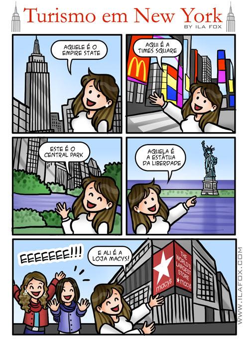 turismo em Nova York, turistando em NY, quadrinhos by ila fox