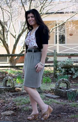 pencil skirt look three