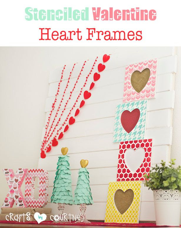 Put your Silhouette Cameo to work with a fun heart frame craft for Valentines. This lovely home decor craft is ALL about stencils, painting and creativity!