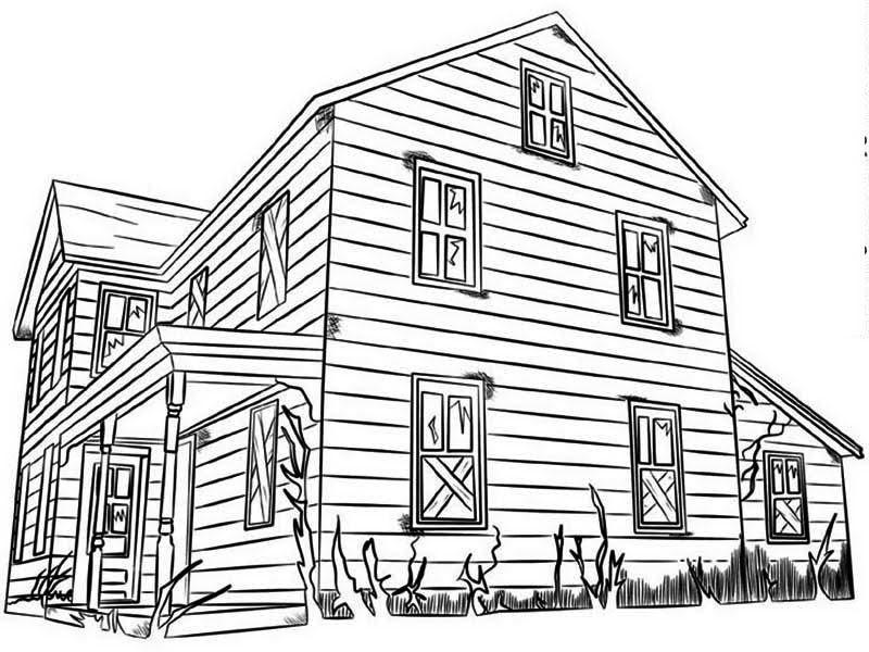 Gambar Mewarnai Rumah Tingkat H Warna