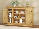 Country Sideboard Cabinet Woodworking Plan - fee plans from WoodworkersWorkshop® Online Store - country style cabinets,furniture,solid pine,sideboards,hutches,servers,full sized patterns,woodworking plans,woodworkers projects,blueprints,drawings,blueprints,how-to-build