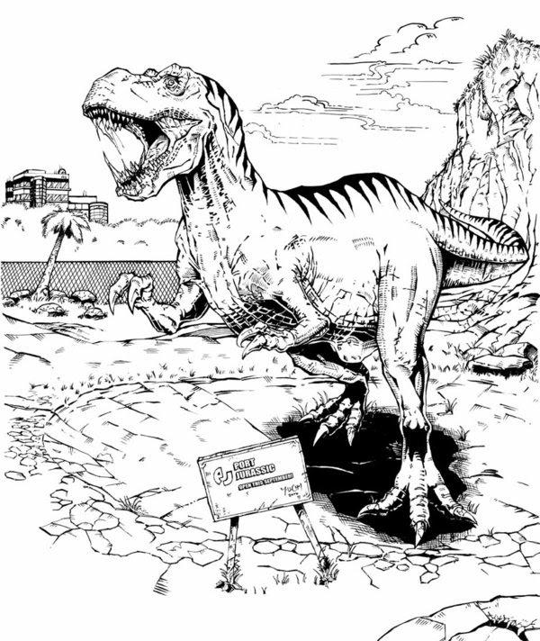 Coloriages à Imprimer T Rex Numéro 534468