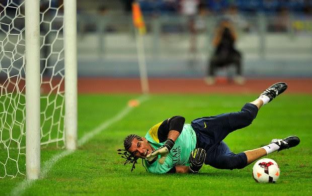 José Manuel Pinto barcelona treino (Foto: Agência AFP)