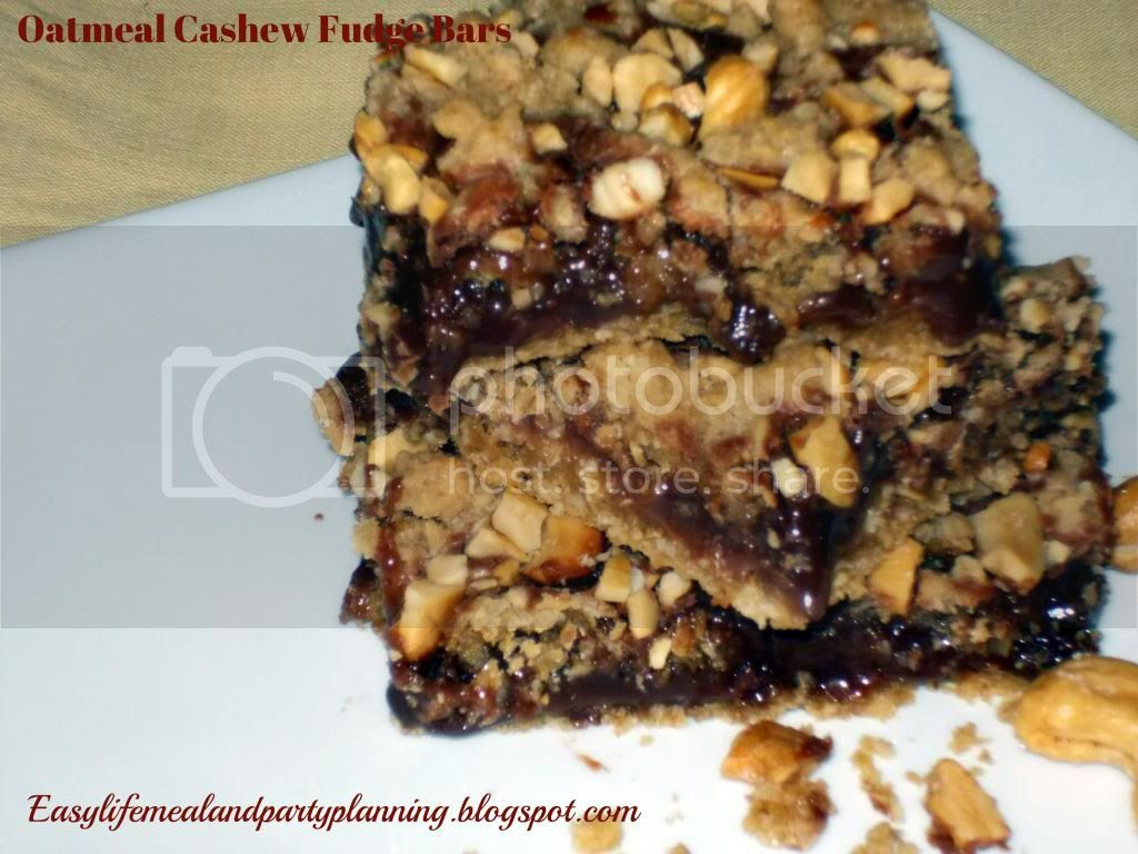 Oatmeal Cashew Fudge Bars by Easy Life Meal & Party Planning