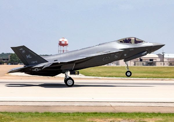 The 300th F-35 Lightning II lifts off from the Lockheed Martin facility in Fort Worth Texas.