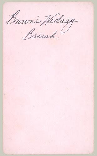 CDV Mary Brown Sidney aged 23 mo. reverse