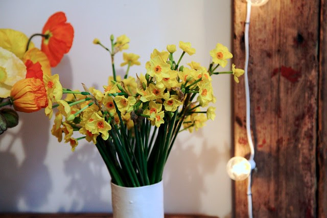 Poppies + Jonquilla Daffodils