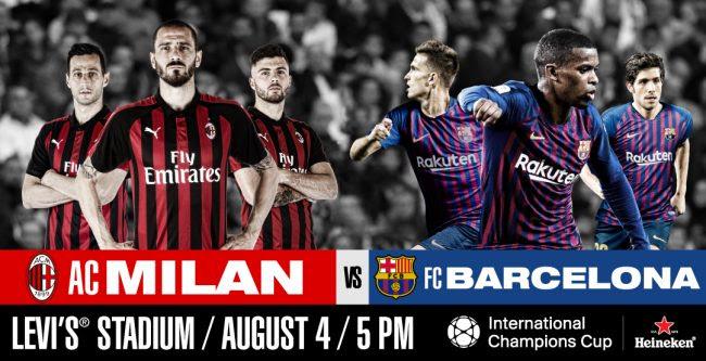 Image result for Milan v Barcelona 2018 International_Champions_Cup