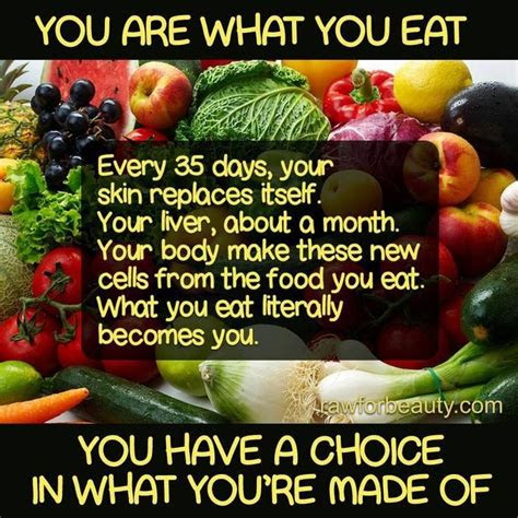 You Are What You Eat Quotes Sayings