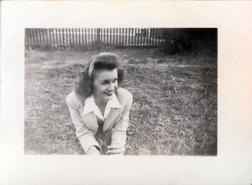 Gloria on grass