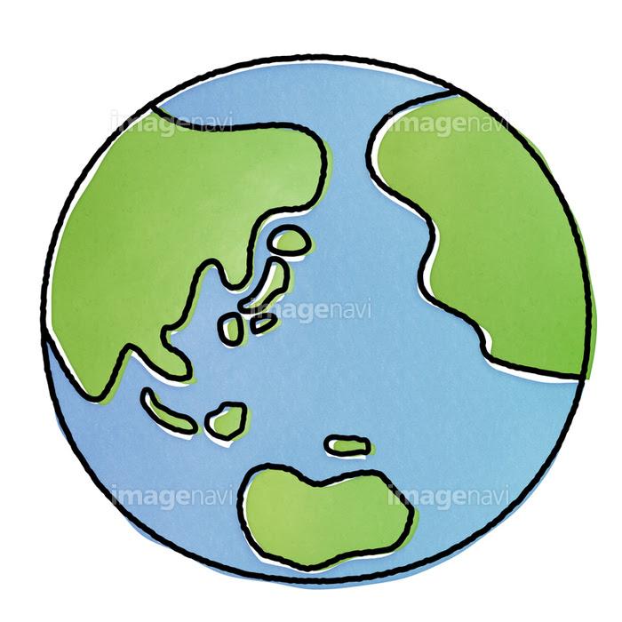 手書き風地球のクリップアートの画像素材31017759 イラスト素材