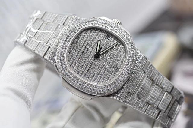 Replica Patek Philippe 5711 Full Diamonds Stainless Steel